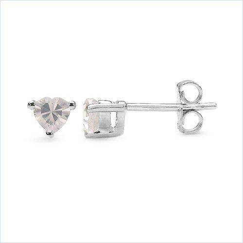 Bijoux Schmidt-Rose Boucles d'oreilles quartz / Boucles d'oreilles-argent sterling Rhodium-0, 84 carats
