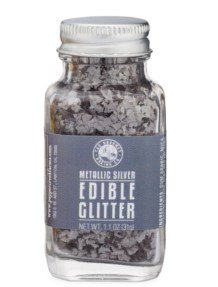 The Gourmet Baking Company Metallic Silver Edible Glitter 1.1 Ounce Jar