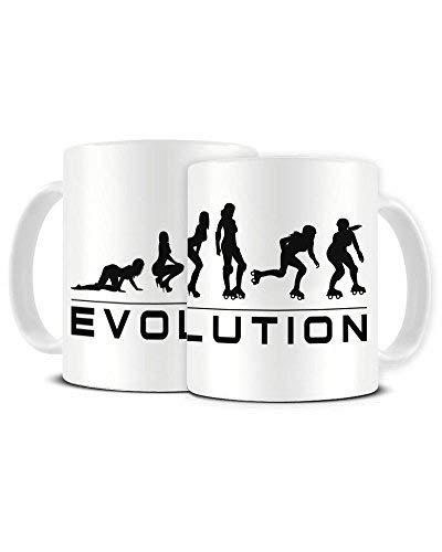 Evolution of a Roller Derby Player - Roller Skating - Ceramic Coffee Mug - Tea Mug - Great Gift Idea Funky NE Ltd