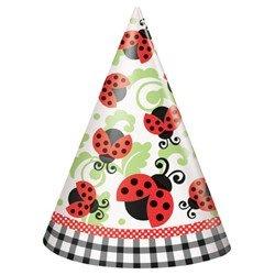 Lively Ladybugs Cone Hats