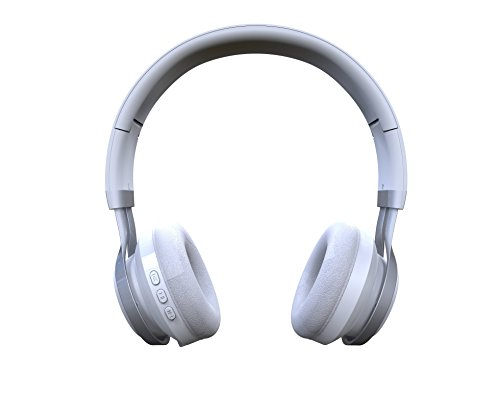 -GabbaGoods Over Ear Wireless Foldable DJ Headphones for all Bluetooth Enabled Devices, iPhones, Smartphones, Tablets, MP3 Players. Noise Canceling Headset with optional Aux Cable- - Casey The Folding