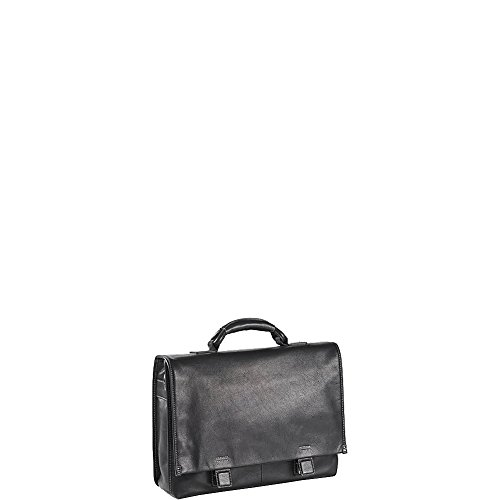 Clava Tuscan Flap Briefcase (Tuscan Black) by Clava