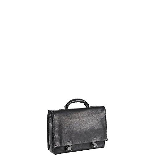 (Clava Tuscan Flap Briefcase (Tuscan Black))