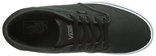 Vans Atwood, Men's Low-Top Sneakers Buck Leather Black/White