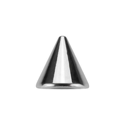 Stahl - Schraubspitze - 10er Pack - extra groß (Piercing Schraub Aufsatz für Hufeisen, Stäbe, Labrets etc.)