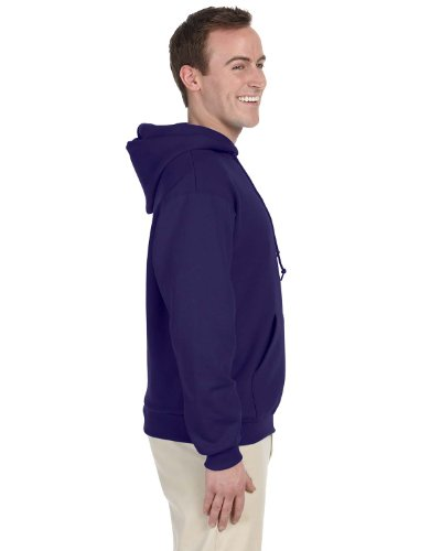JERZEES Mens NuBlend Pullover Hooded Sweatshirt, XL, Deep Pu