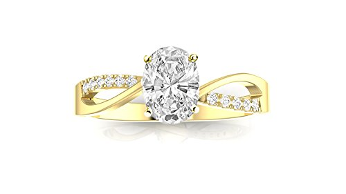 0.5 Ct Oval Diamond - 4