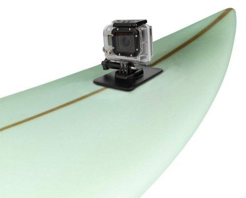 DURAGADGET Surfboard and Flat Surface (Car, Boats, Snowboard etc) Mount For GoPro Hero 1, Hero 2, Hero 3, Hero 3+ Plus, Naked/Helmet Hero & LCD BacPak