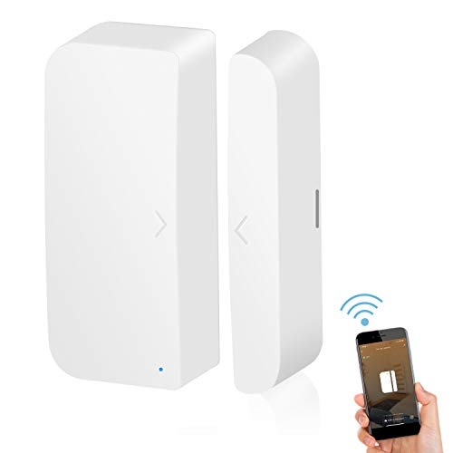 WiFi Door Sensor Smart Window Sensors White No Hub Required Wireless Design Instant Alerts Requires 2.4 GHz Wi-Fi Compatible with Alexa Google Assistant Home Security