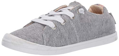 ROXY Women's Bayshore Slip On Sneaker Shoe, New Grey ash 8.5 M US (Ash Slip On Sneaker)