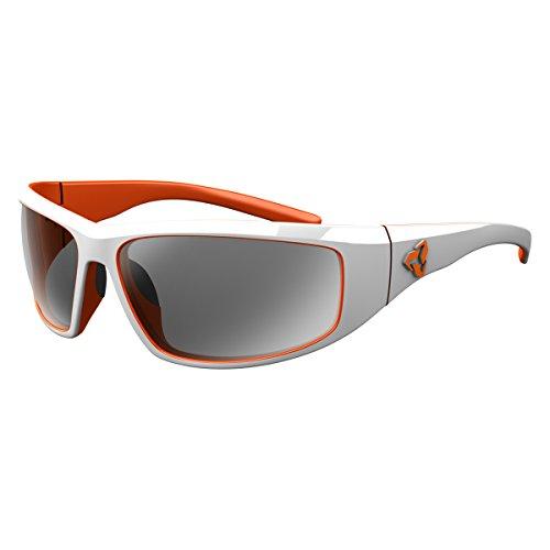 Cheap Ryders Eyewear DUNE Cycling Sunglasses for Mountain Biking with Grey Polarized Lenses, White-Orange