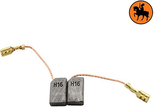 Balais de Charbon pour FEIN WSG-125 -- 5x10x17mm -- 2.0x3.9x6.7'' -- Avec arrêt automatique