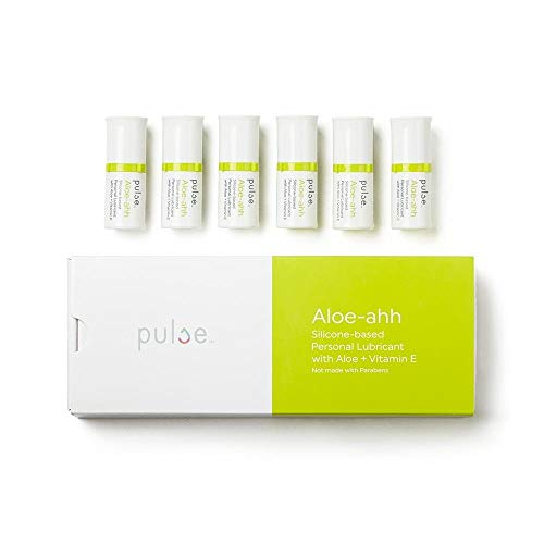 - Natural Feminine Moisturizing Medical-Grade Silicone based Vitamin D Aloe-ahh Personal Lubricant for Vaginal Dryness by Pulse- FDA Cleared- 6 Pods 6.7 ml Each (compatible with Pulse Warming Dispenser)