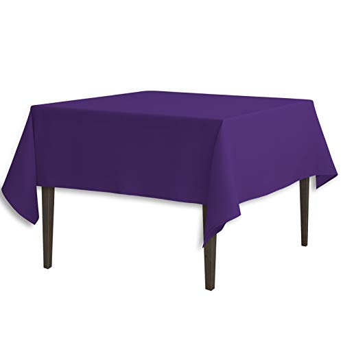 LinenTablecloth 70-Inch Square Polyester Tablecloth Purple