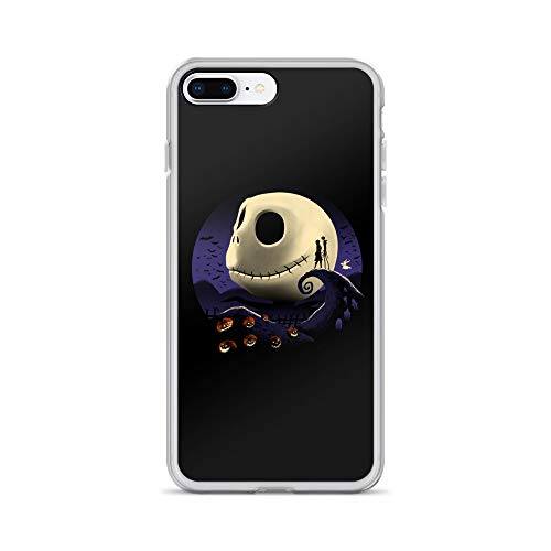 iPhone 7 Plus/8 Plus Case Anti-Scratch Motion Picture Transparent Cases Cover Pumpkins and Nightmares Classic Movies Video Film Crystal Clear]()