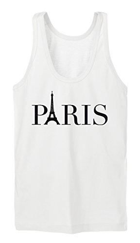 Paris Eifel Logo Tanktop Girls Blanc