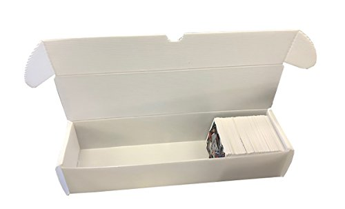 Max Protection 800 Count Size Corrugated Plastic Baseball Trading Card Storage Boxes - White (50) ()