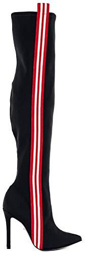 Black Tecidos Schutz Bota Nero Spandex qfvC7vw