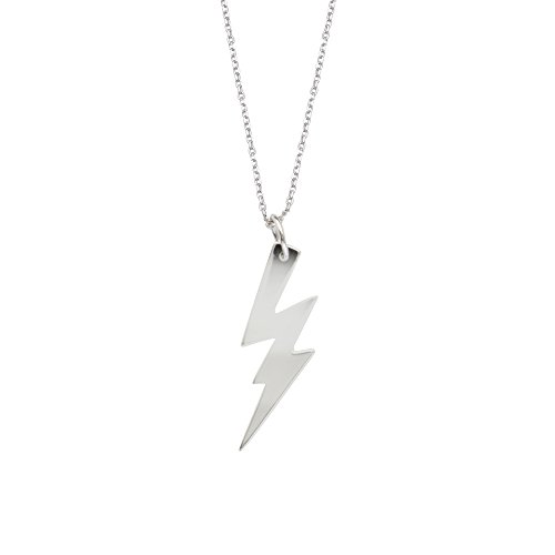 DiamondJewelryNY Silver Pendant, Excl.Adj E2W Lightning Bolt Neck-Dc 030