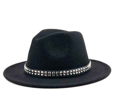 Fedora Hats for Women Autumn Women Men Ladies Wool Fedoras Top Jazz Hat  European American Round 95b0654e8753