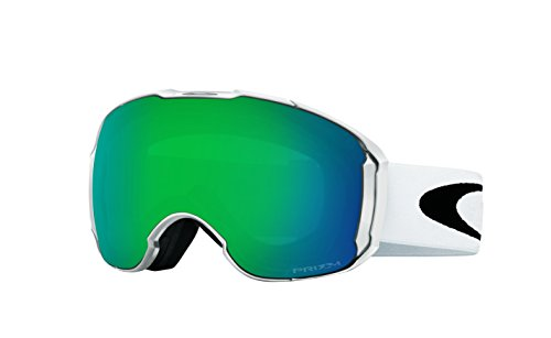 Oakley Men's Airbrake XL Snow Goggles, Polished White, Prizm Jade Iridium, - White Oakley Goggles