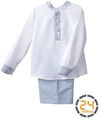 Conjunto niño Eve Children Camisa blanca Pantalón Azul: Amazon.es: Bebé