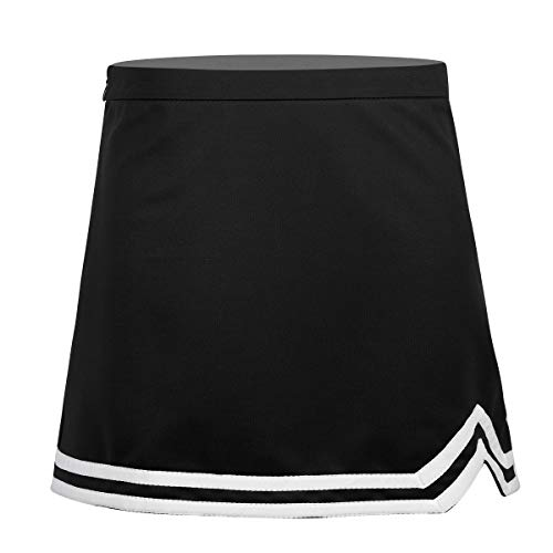 Alvivi Youth Big Girls A-Line Cheerleading Skirt Squad Cheer Leaders School Uniform Skirt Black 8-10]()