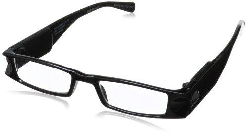 Foster Grant Lightspecs Liberty Rectangular Reading Glasses,Black,50 mm/+ - Light Reading Glasses Up