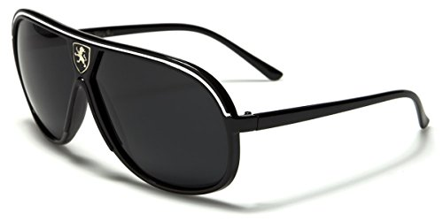 Polarized Men's Flat Top Retro Vintage Aviator - 80s Sunglasses Ski