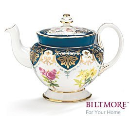 Vanderbilt Porcelain Teapot From Biltmore House Collection B