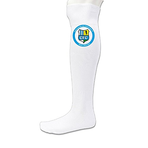 Unisex UEFA Champions League Chelsea FC Logo Knee Length Soccer Sports Socks White