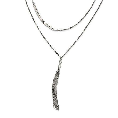 Barato Acero inoxidable Multi filamento 2in con Símbolo del Infinito. EXT.  Collar - cm 41562ce5cbe8