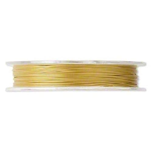 Strand 30' Spool - Milleona Gold Stainless Steel 7-Strand Tigertail 0.38mm Beading Wire 30 Foot Spool ID-3638
