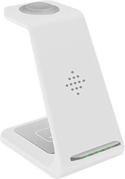 Dengofng de Usos Múltiples Cargador Inalámbrico, 3 IN 1 Wilreless Cargador para Smartphone/Smartwatch/Audífonos - Blanco para Sumsung, Free Size