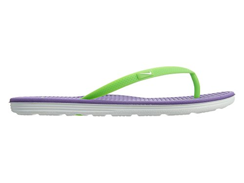 Nike Mädchen Solarsoft Thong 2 (GS/PS) Zehentrenner HYPER GRAPE/WHITE//VOLTAGE GREEN