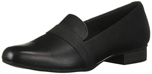 CLARKS Women's Juliet Ariel Loafer, Black Leather, 50 M US