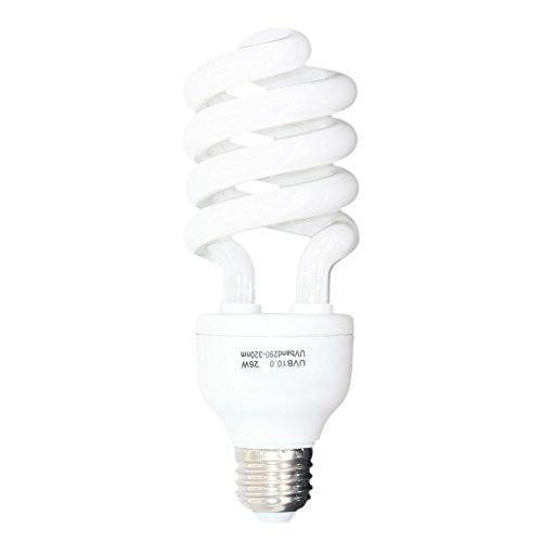 Aiicioo Reptile UVB Light 10.0 Desert Terrarium Lamp Compact Fluorescent 26 Watt