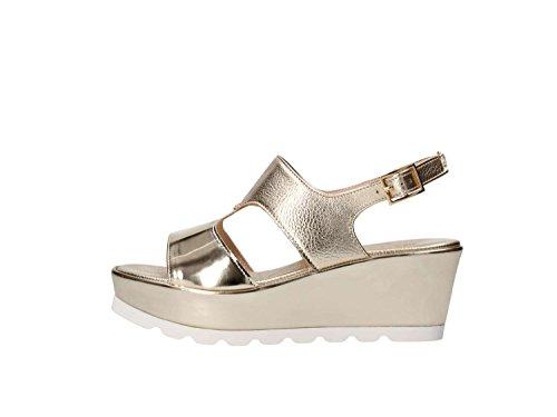 Martina B. 0476sole Wedge Sandals Women Platinum