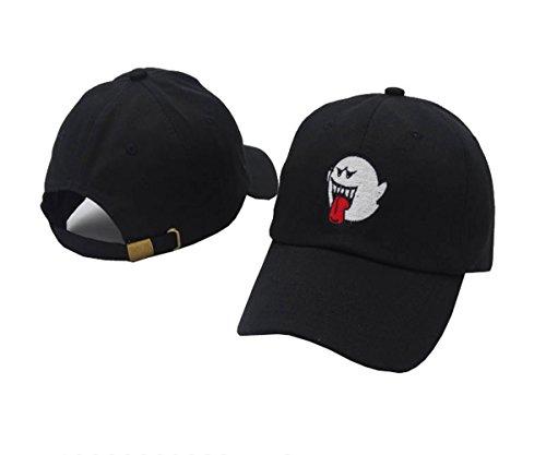 Price comparison product image TOODOO Bryson Tiller Hat American Rapper Singer Trapsoul Snapback Hip Hop Dad Hat Distressed Boo Mario Ghost Women Men Baseball Cap (black)