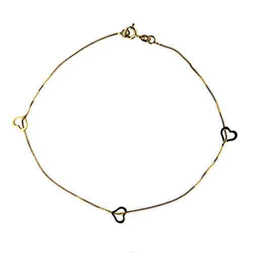 18K yellow gold harts anklet b