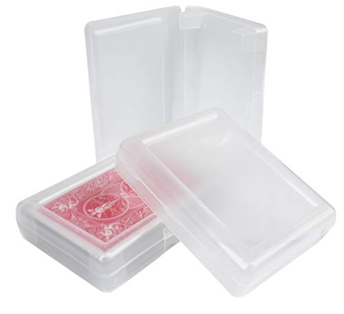 5 Pack of Playing Card Deck Boxes, Snaps Closed, Plastic, Fits Pokemon, Magic The Gathering and Yu-Gi-Oh Cards