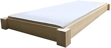 LIEGEWERK Bodentiefes Designbett Massivholzbett Bett Holz massiv 90 ...