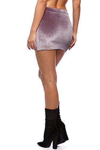 donna Sexy Rosa ragazza Velluto Swall Rock owuk Vintage Minigonna da corto x6qwqIvE