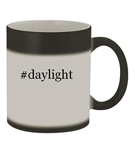 (#daylight - 11oz Color Changing Hashtag Sturdy Ceramic Coffee Cup Mug, Matte Black)