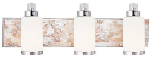 Minka Lavery 3243-77 Cashelmara - Three Light Bath Vanity, Chrome Finish with Etched Opal Glass (Light Vanity Seven Light)