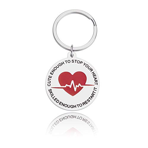 (Funny Nurse Keychain Gifts for Women Men Nurses Prayer Stethoscope Charms RN Nurses Graduation Gifts Nursing Gifts for Medical Students Nurse Practitioner Female RN LPN Paramedic Gifts Key Ring )