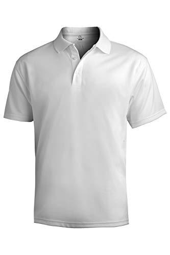 Edwards Men's Hi Performance Mesh Polo X-Large White
