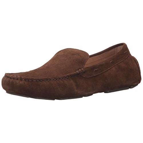 Tommy Bahama Men's Pagota Slip-on Loafer, Dark Brown Suede, 11 D US