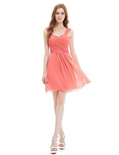 Ever Pretty - Vestido - plisado - para mujer Karollenrot