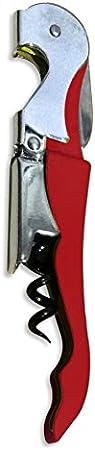 HORECATECH Sacacorchos camarero doble palanca rojo vino (rojo)
